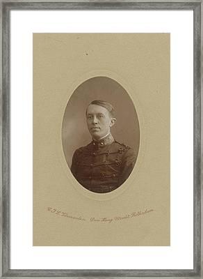 Portrait Of Dr. Th. Erp, Lieutenant And Restorer Framed Print by Artokoloro