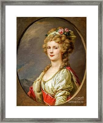 Portrait Of Elena Pavlovna Of Russia  Framed Print by Viktor Birkus