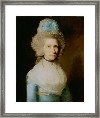 Portrait Of Elizabeth Caldwell Framed Print by Gilbert Stuart