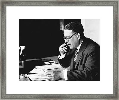 Portrait Of Elmer Irey Framed Print by Underwood Archives