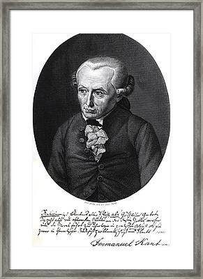 Portrait Of Emmanuel Kant  Framed Print by German School