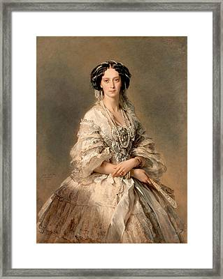 Portrait Of Empress Maria Alexandrovna Framed Print by Franz Xaver Winterhalter