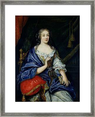 Portrait Of Francoise-louise De La Baume Le Blanc 1644-1710 Duchesse De Vaujour, Called Framed Print by Jean Nocret