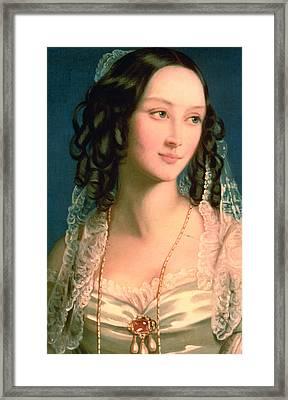 Portrait Of Furstin Susupolt Framed Print by Christina Robertson