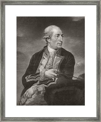 Portrait Of George Farmer Captain Framed Print by Charles Grignion