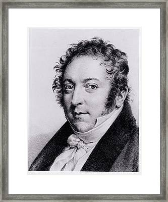 Portrait Of Gioacchino Rossini, Italian Framed Print by