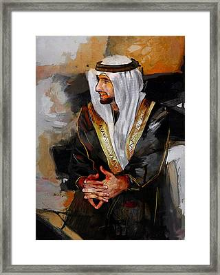 Portrait Of Hamdan Bin Mohammad Bin Rashid Al Maktoum 2 Framed Print by Maryam Mughal