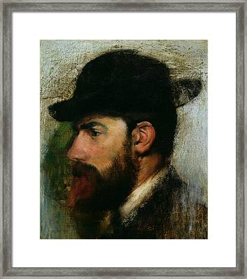 Portrait Of Henri Rouart Framed Print by Edgar Degas