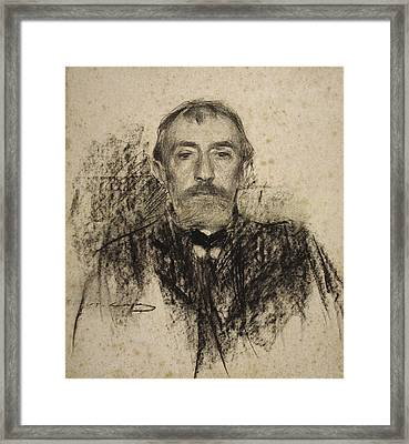 Portrait Of Henry Lerolle Framed Print by Ramon Casas