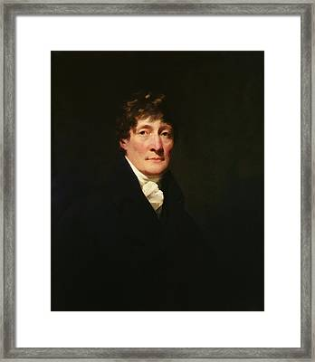 Portrait Of Henry Mackenzie 1745-1831 C.1810 Oil On Canvas Framed Print by Sir Henry Raeburn