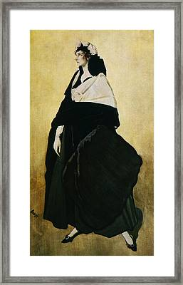 Portrait Of Ida Lvovna Rubinstein Framed Print by Leon Bakst