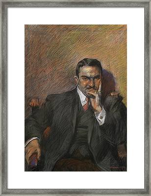 Portrait Of Innocenzo Massimino Framed Print by Umberto Boccioni