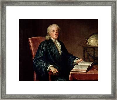 Portrait Of Isaac Newton Framed Print by Enoch Seeman