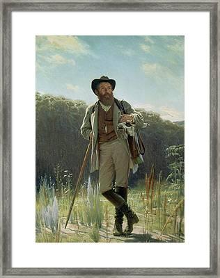Portrait Of Ivan Ivanovich Shishkin Framed Print by Ivan Nikolaevich Kramskoy