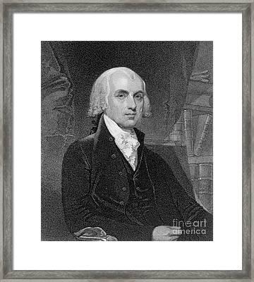 Portrait Of James Madison Framed Print by Gilbert Stuart
