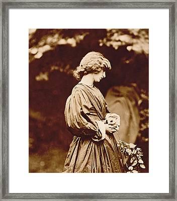 Portrait Of Jane Morris Framed Print by John Parsons
