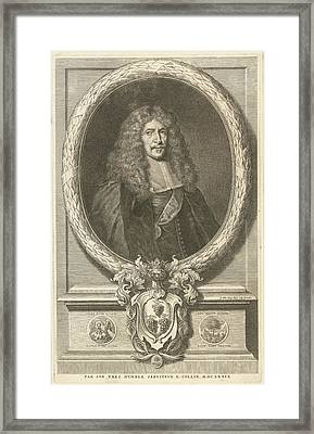 Portrait Of Joachim Von Sandrart, Richard Collin Framed Print by Richard Collin
