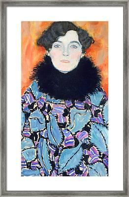 Portrait Of Johanna Staude Framed Print by Gustav Klimt