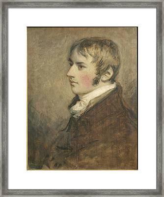 Portrait Of John Constable Aged Twenty Framed Print by Daniel Gardner
