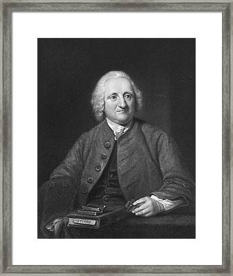 Portrait Of John Dollond Framed Print by Underwood Archives