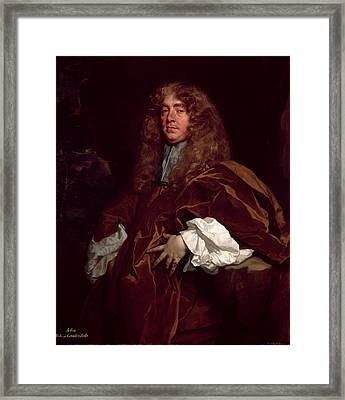 Portrait Of John Maitland, 1st Duke Of Lauderdale 1616-82 C.1665 Framed Print by Sir Peter Lely