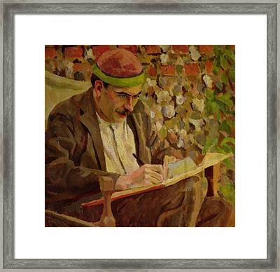 Portrait Of John Maynard Keynes Framed Print by Roger Eliot Fry