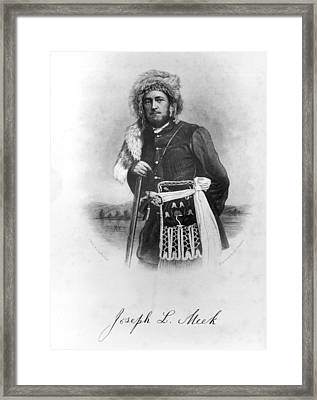 Portrait Of Joseph L. Meek Framed Print by Underwood Archives
