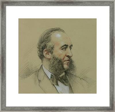 Portrait Of Jules Ferry Framed Print by Paul Sarrut