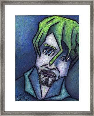 Portrait Of Kurt Framed Print by Kamil Swiatek