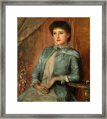 Portrait Of Lillie Langtry Framed Print by George Frank Miles