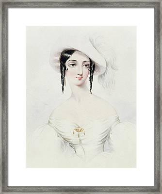 Portrait Of Lola Montez Framed Print by Camille Joseph Roqueplan