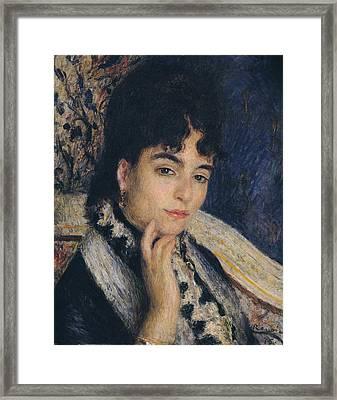 Portrait Of Madame Alphonse Daudet,1876  Framed Print by Pierre Auguste Renoir