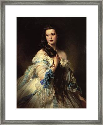 Portrait Of Madame Barbe De Rimsky-korsakov Framed Print by Franz Xaver Winterhalter