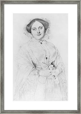 Portrait Of Madame Ingres Framed Print by Jean Auguste Ingres