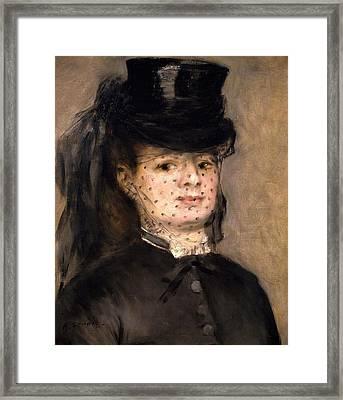 Portrait Of Madame Paul Darras Framed Print by Pierre-Auguste Renoir