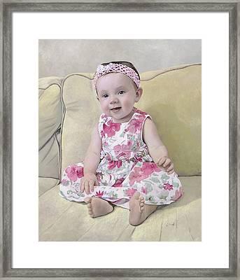 Portrait Of Maddie Framed Print by Guido Borelli