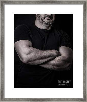 Portrait Of Man Framed Print by Edward Fielding
