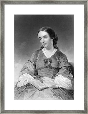 Portrait Of Margaret Fuller Framed Print by Underwood Archives