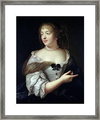 Portrait Of Marie De Rabutin-chantal, Madame De Sevigne 1626-96 Oil On Canvas Framed Print by Claude Lefebvre