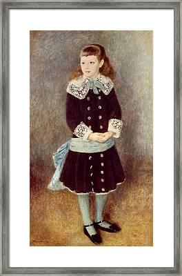 Portrait Of Martha Berard Framed Print by Pierre-Auguste Renoir