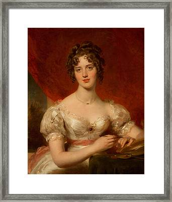 Portrait Of Mary Anne Bloxam Framed Print by Thomas Lawrence