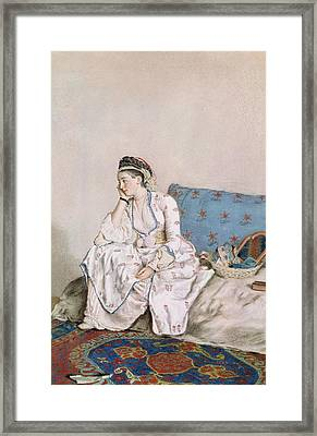 Portrait Of Mary Gunning Framed Print by Jean-Etienne Liotard