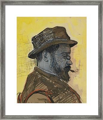Portrait Of Maximilien Luce Framed Print by Paul Signac