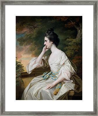 Portrait Of Miss Anne Dutton Framed Print by Francis Cotes