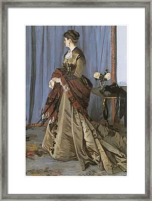 Portrait Of Mrs. Gaudibert Framed Print by Claude Monet