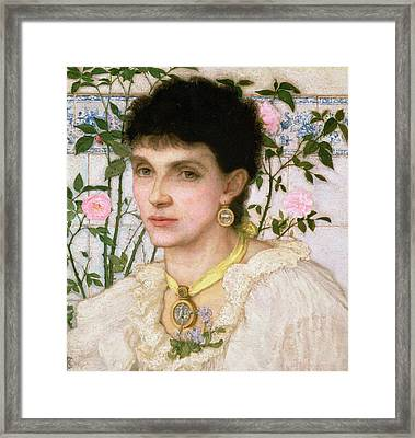 Portrait Of Mrs George Henry Boughton Framed Print by English School