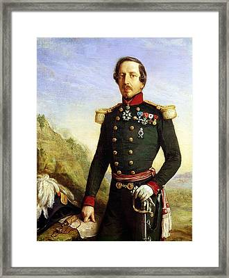 Portrait Of Napoleon IIi 1808-73 1852 Oil On Canvas Detail Framed Print by Felix Francois Barthelemy Genaille
