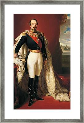 Portrait Of Napoleon IIi Louis Napoleon Bonaparte Framed Print by Franz Xaver Winterhalter