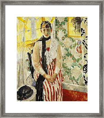 Portrait Of Nel Wouters Framed Print by Rik Wouters