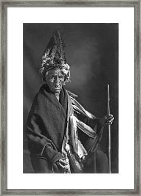 Portrait Of Old Wrinkle Meat Framed Print by Underwood Archives
